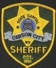 Carson City Sheriff's Patch